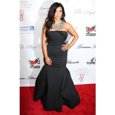 Mermaid Long Black kim kardashian Inspired Red Carpet Dress
