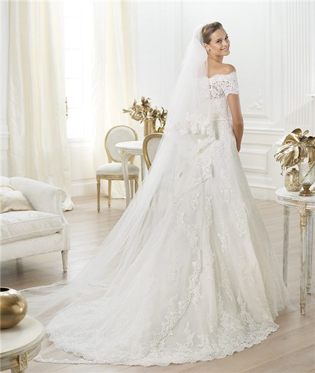 Lace Wedding Dress with Veil