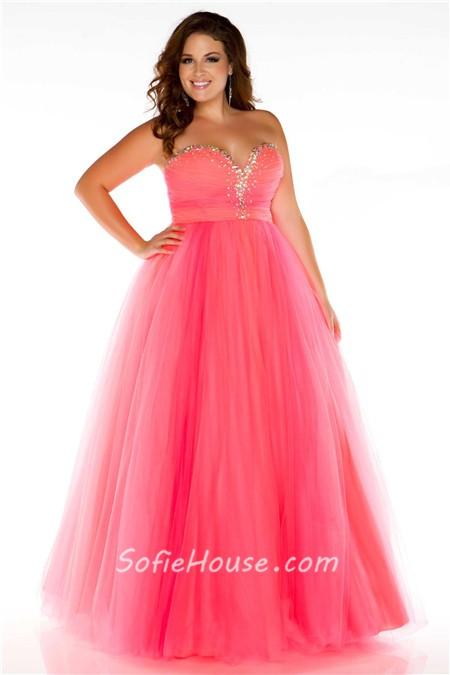 Plus Size Princess Prom Dresses