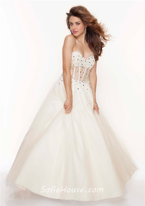 White princess dress for prom