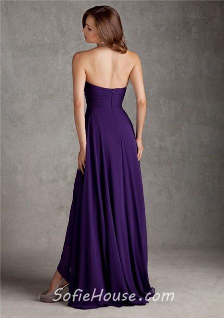 Purple A-Line Wedding Dress