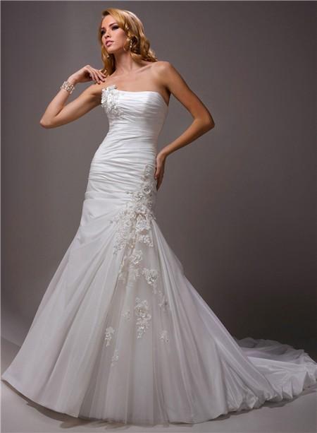 Bubble Hem Wedding Gowns