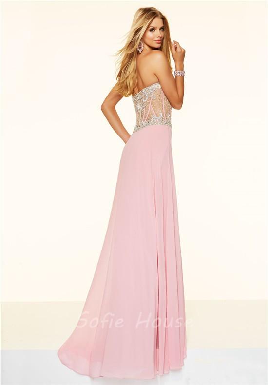 Light Pink Chiffon Dress - Dress Nour