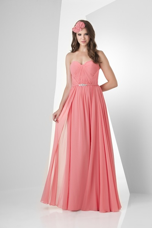 A line strapless sweetheart long tulip chiffon draped for Strapless dresses for wedding guests