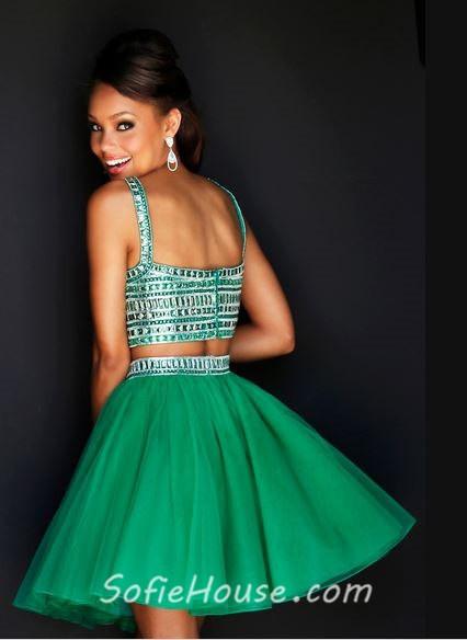 Short Emerald Green Prom Dresses - Holiday Dresses
