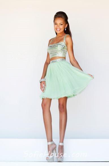 Two Piece Cocktail Dresses - Formal Dresses