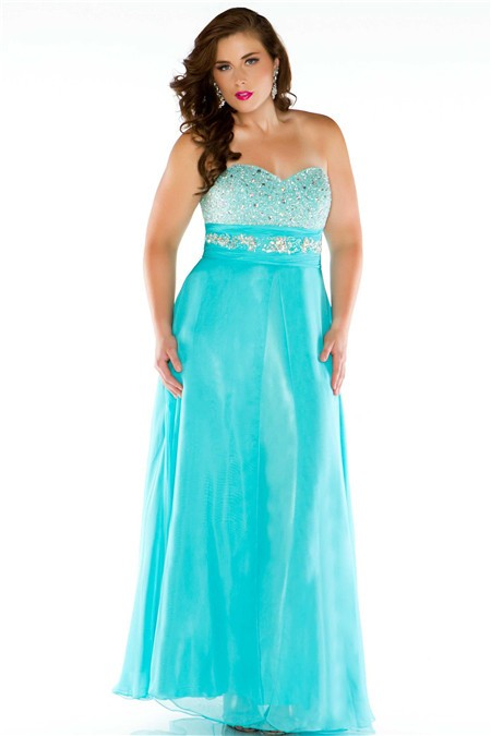 Cheap aqua plus size dress
