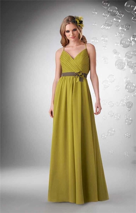 Chartreuse Strapless Dress