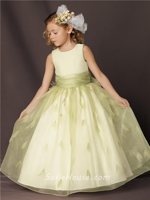 Yellow organza flower girl dress