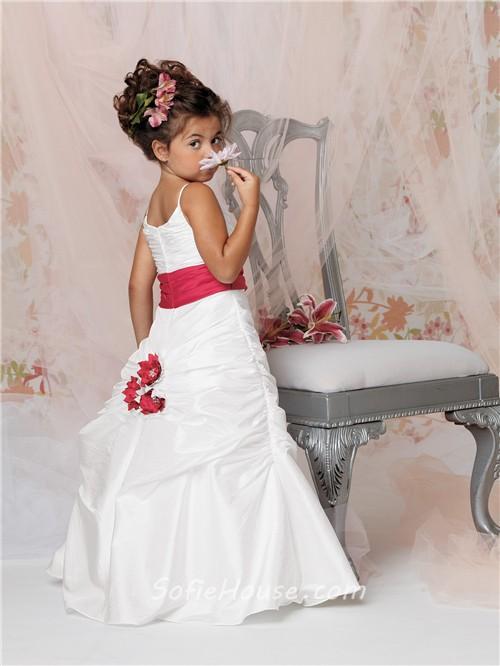 Taffeta Flower Girl Sash
