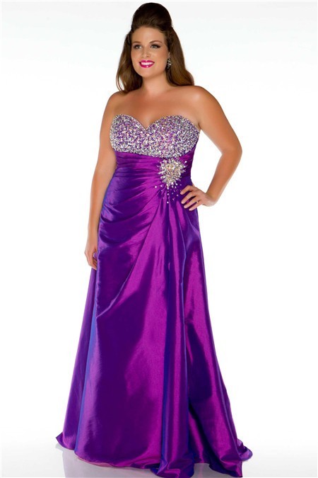 Purple beaded dress plus size