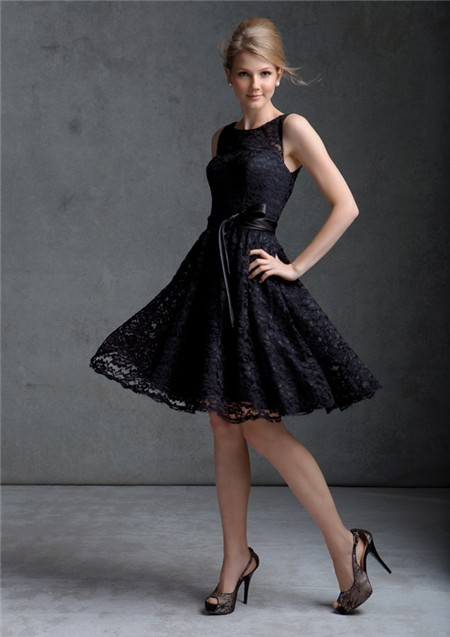 Lace Knee Length Dress Photo Album - Reikian