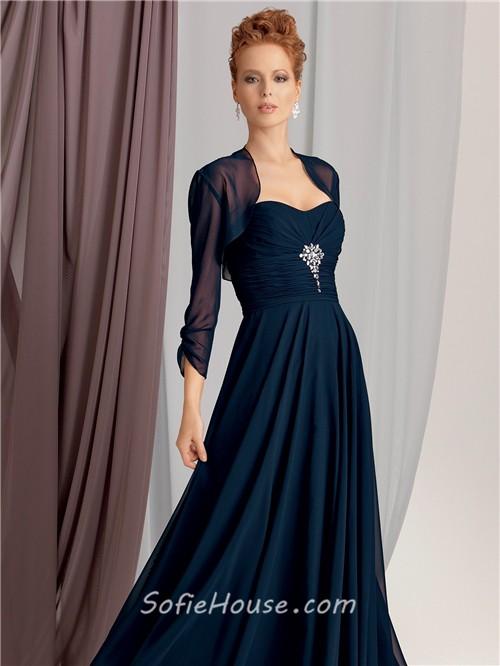long vintage a line sweetheart dresses