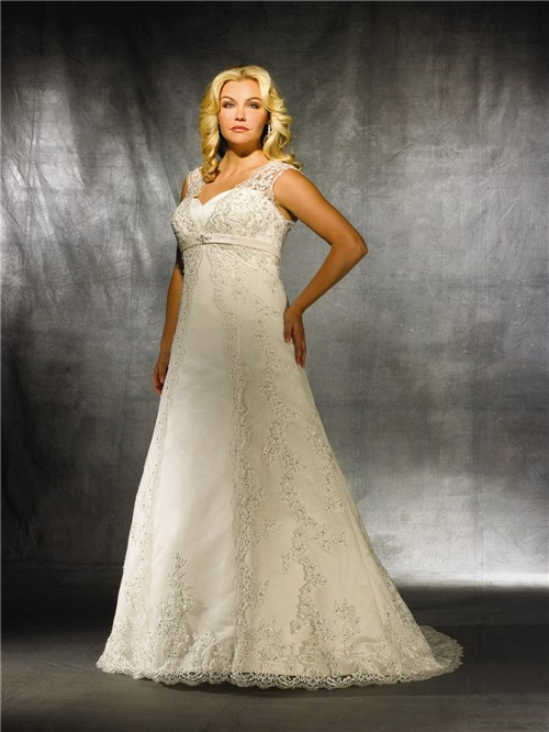A line sweetheart modest vintage lace wedding dress for for Vintage wedding dresses plus size
