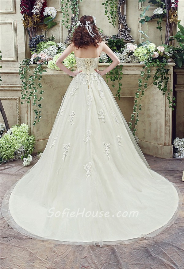 wedding ball gowns with bow