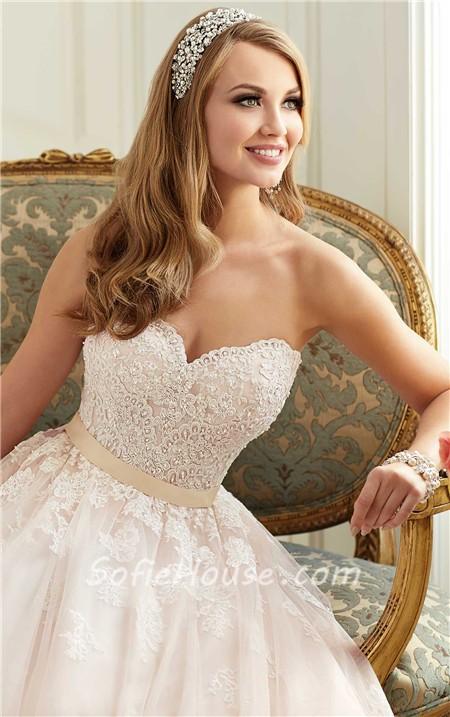 Wedding Dress Gold Sash Sale
