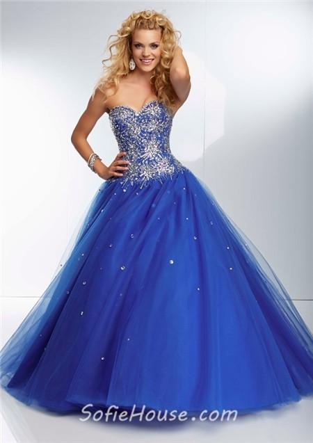 Deep purple strapless prom dress