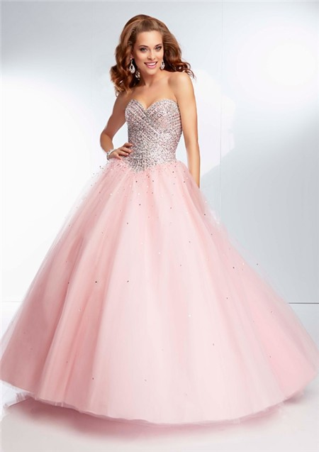 Light Pink Ball Gown Prom Dress - Missy Dress