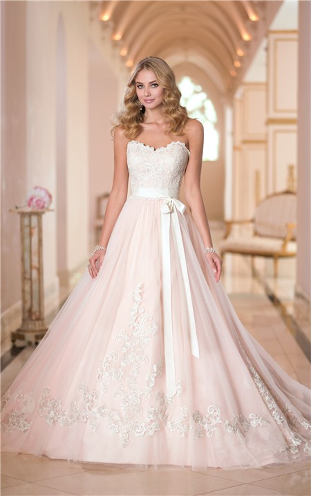 Pink Lace Wedding Dress Ball