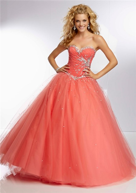 Ball Coral Long Dresses
