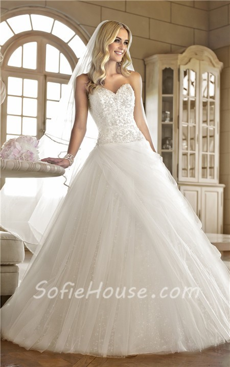 Sequin Corset Wedding Dress With D