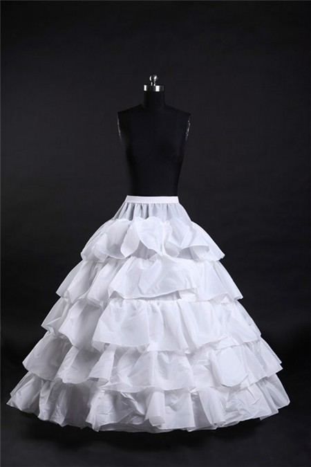 Ball gown tiered hooped ruffle wedding bridal crinoline for Tiered ruffle wedding dress