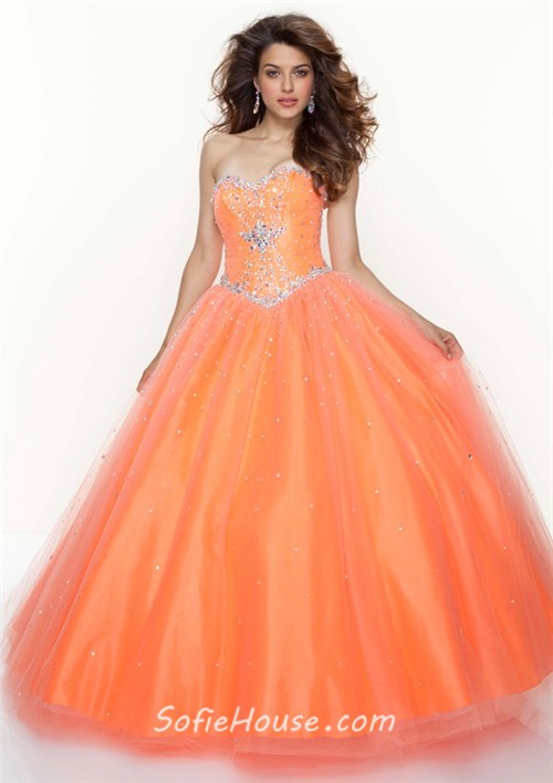 sweetheart ball gown floor length tulle