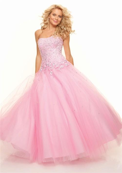 Pink Corset Prom Dress
