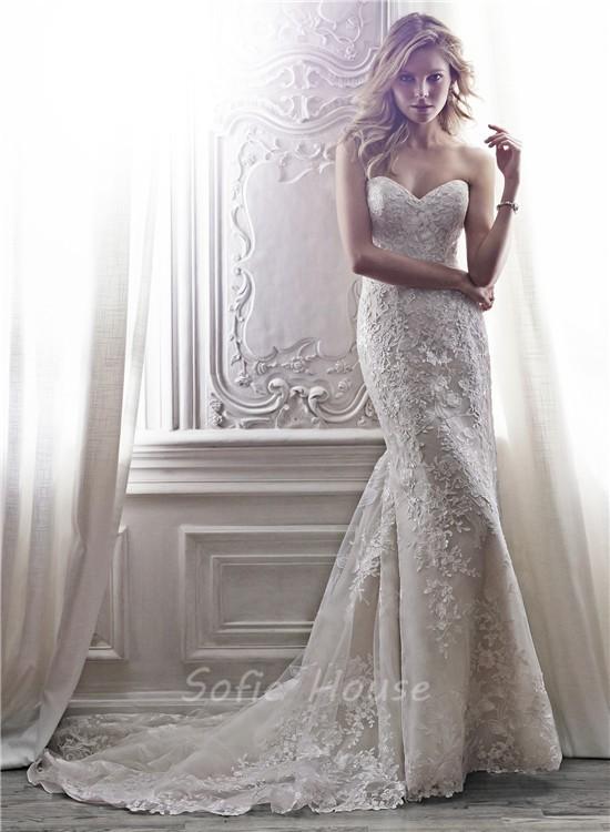 Sweetheart Applique Wedding Dress