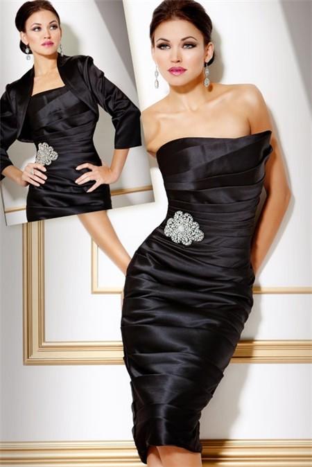 Black Satin Cocktail Dress