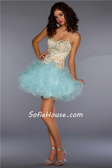 Strapless Short Mini Cocktail Prom Dress
