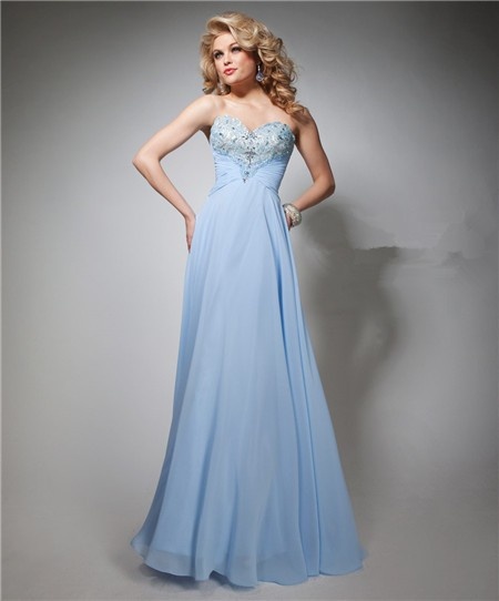 Elegant Strapless Long Prom Dresses