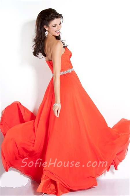 Elegant Strapless Long Prom Dresses