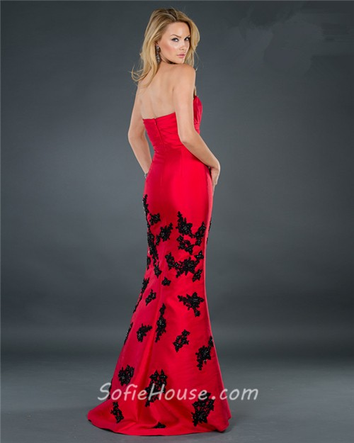 Red lace black evening dress dresses