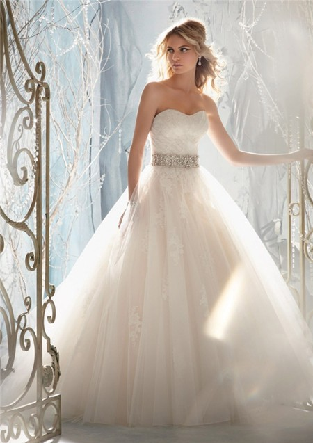 ¿Qué Hay De Mí? Capítulo 72 Fairytale-Ball-Gown-Princess-Detachable-Cap-Sleeve-Wedding-Dress-With-Crystal-Pearls-Sash
