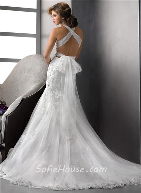 Sexy Mermaid Wedding Dress with Straps