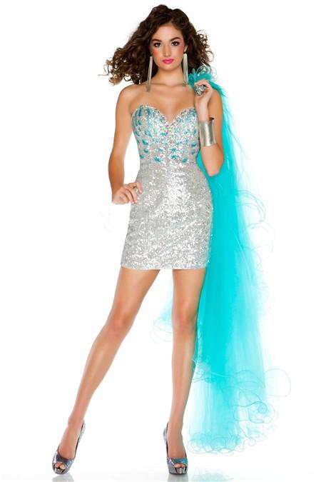 Prom dress detachable long skirt