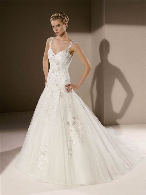 Lace Sweetheart Wedding Dress With Straps - Wedding Dress Ideas