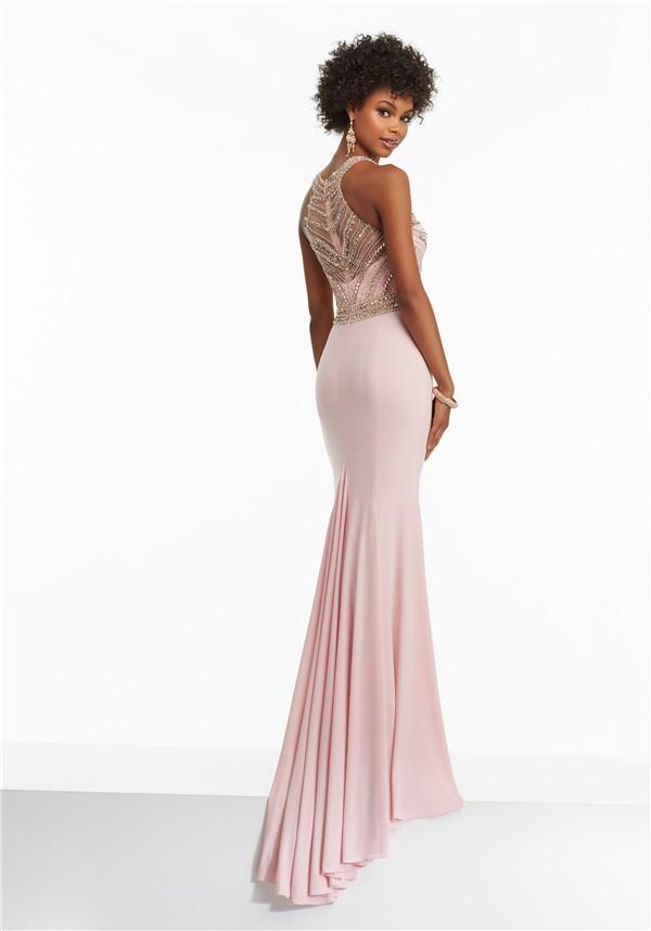 Pink Jersey Prom Dress