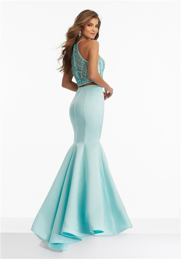 Fitted Tulle Prom Dress