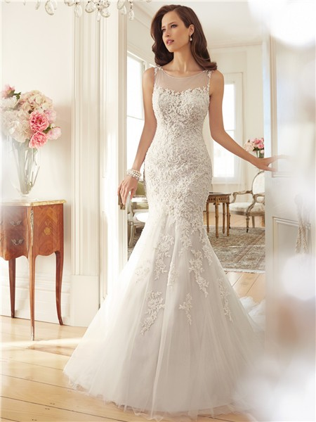 Fitted Beaded Wedding Dress