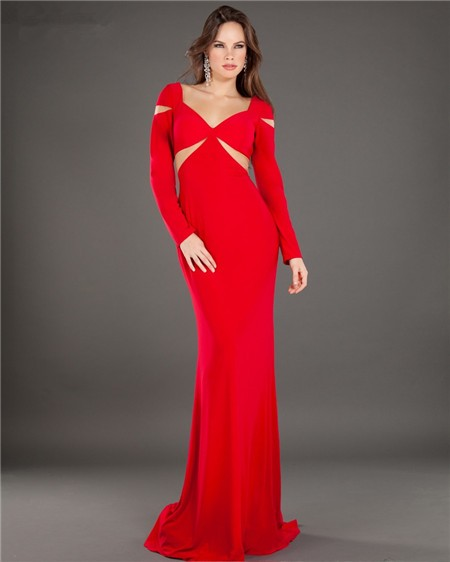 Long formal cut out dress
