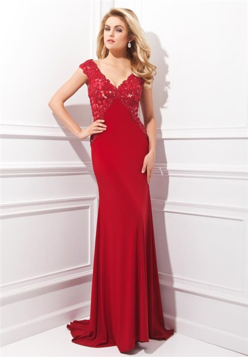 fitted red evening gowns - photo #39