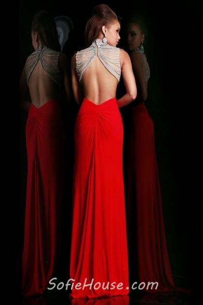 High Neck Backless Dress