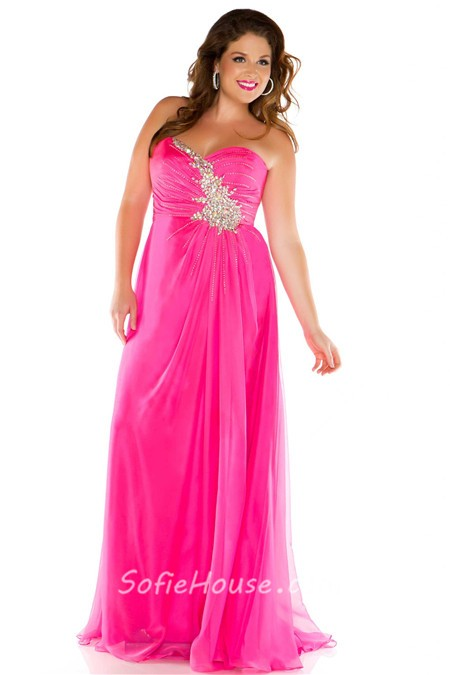 Plus size pink formal dresses