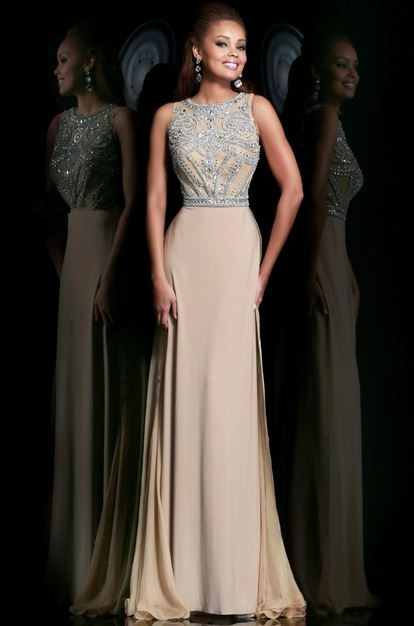 Sheath Chiffon Prom Dress