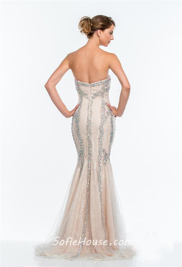 Fair Lady Womens Ball Gown Strapless Elegant Prom Dress