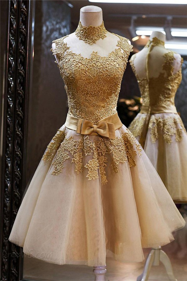 Lace Dress with Bow