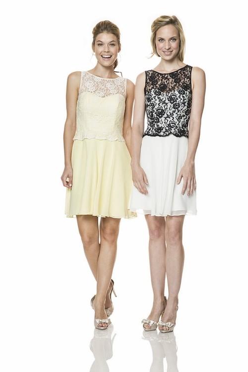 Short White Wedding Dress Black Lace : Illusion boat neckline short black lace white chiffon