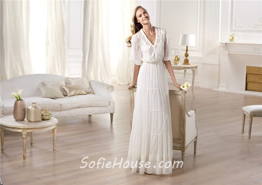 Garden Wedding Gowns with Sleeves